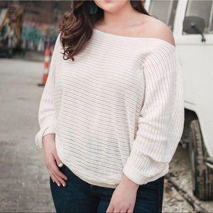 Forever 21 Off Shoulder Dolman Sleeve Sweater 2X
